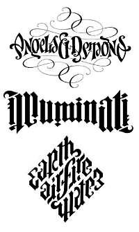 Ambigram Letter Tattoo