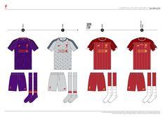 Liverpool FC Kit History, from 1892 to 2020 on Behance Liverpool Kit History, Liverpool Fc Kit, Football, Behance, Logo, Soccer, Futbol, Logos, American Football