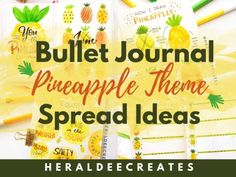 Get creative with bullet journal pineapple theme inspired spreads that you'll surely love. Plus get tips for your pineapple doodles and quotes perfect for . Bullet Journal Monthly Spread, Bullet Journal Cover Page, Bullet Journal Tracker, Bullet Journal Themes, Journal Covers, Bullet Journals, Bullet Journal For Beginners, Calendar Layout, Improve Your Handwriting