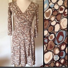 30% off 3BCBG Faux Wrap Dress Excellent condition.  Only worn once-too small now. Faux wrap that makes it easier and everything stays put. Nice snap closure by the girls to keep it classy.  Measurements upon request. BCBGMaxAzria Dresses