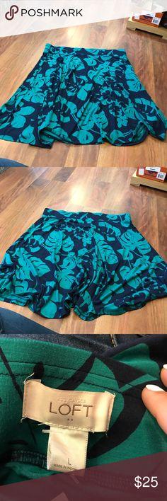 Ann Taylor Loft skirt sz L NWT Ann Taylor Loft green and blue printed skirt sz L NWT Ann Taylor Skirts