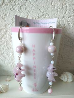 Boucles d'oreilles en perles de verre de Murano, perles céramique et perles de Jade : Boucles d'oreille par k-thys-creations-bijoux