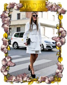 Anna Dello Russo in a gorgeous black and white ensemble by Celine S/S 2012