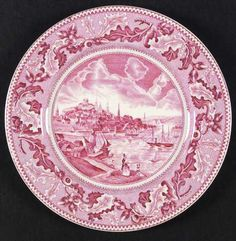 We don\u0027t know if this is a real dinnerware pattern or not - but we like it! & Four Queens China ROOSTER Red/Pink Off White DINNER PLATE Gingham ...