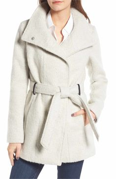 e138ab876eef1 Cole Haan Signature Belted Wrap Coat