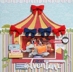 Bella Blvd Disney Dumbo Scrapbook Layout by Wendy Antenucci.