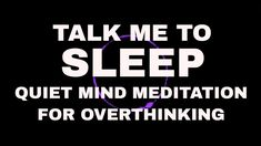 Sleep easy tonight with a quiet mind in listening to this guided meditation. This hypnosis for overthinking will talk you down to a good night's sleep. Deep Sleep Meditation, Meditation For Anxiety, Meditation For Beginners, Meditation Benefits, Mindfulness Meditation, Guided Meditation, Relaxation Techniques, Meditation Techniques, How To Calm Anxiety