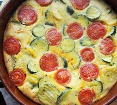 Clafoutis aux courgettes et tomates avec thermomix