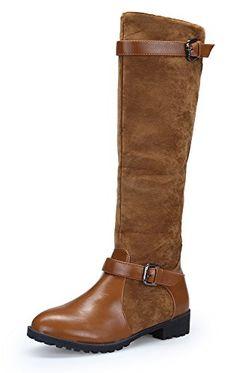 45e5da3e0 KOUDYEN Stivali Donna Invernali Scarpe Pellicce Boots  Fibbia,XZZ7-blue-EU38: Amazon.it: Scarpe e borse