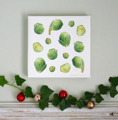 Botanical Canvas Print with Sprouts!!