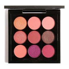 EYESHADOW x 9 GOLDEN PEACH-AQUALUZZA - Cruelty free makeup brand. Eyeshadow sets. #makeup morning routine, pretty eyes, wide eyes