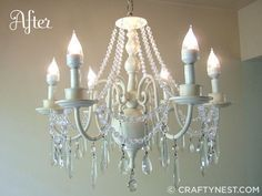 How To Give An Old Chandelier A Makeover And Make It Look Better Than Did