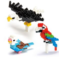 nanoblock Birds now featured on Fab.