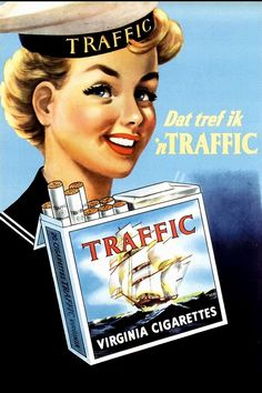 Vintage Dutch ad Cigarettes