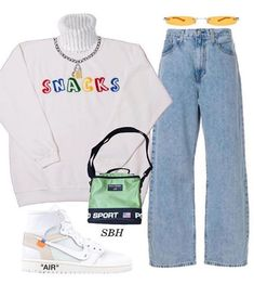 moda Its cosy season guys go get yourself a jumper from snackslondon Kpop Fashion Outfits, Edgy Outfits, Swag Outfits, Retro Outfits, Cute Casual Outfits, Vintage Outfits, Comfortable Outfits, Mode Instagram, Jugend Mode Outfits