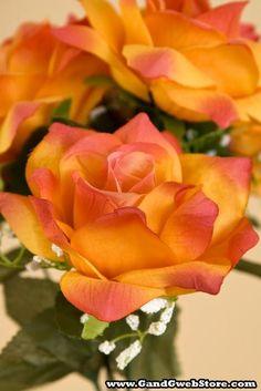 Vein Rose Orange (Ci Flowers Garden Love