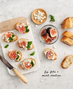Fig, Feta & Mint Crostini Recipe - Love and Lemons