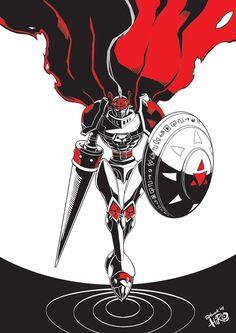 'Dukemon' (digimon character) draw for digimon fan-fiction book written by Hasif Rayyan
