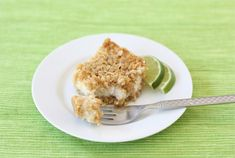 Lime and Coconut Crumble bars - lime can be substituted with lemon