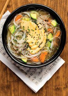 sopa china con pechuga de pollo