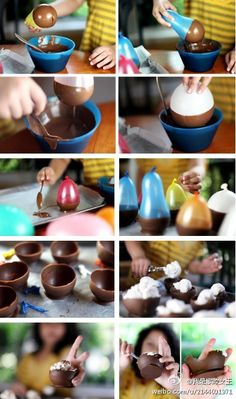 Edible cups made of chocolate~~