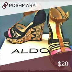 07dddba4d5b Aldo Aztec Wedges Super chic Aztec print wedges perfect for spring and  summer. From flared