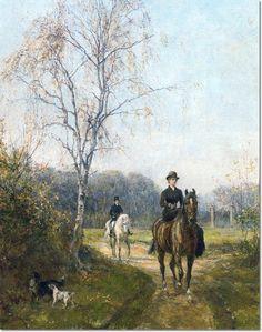 Heywood Hardy - The Morning Ride Lady Riding Sidesaddle  Painting