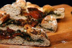 Pesto-Gorgonzola brood