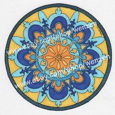 Hand Colored Mandala Art on Etsy, $19.99