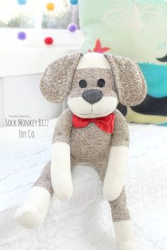 Sock Puppy Dog Doll, Child's Plush Due to the Dog's eyes and other accessories, this toy is not suitable for babies or smaller children Materials Large Original Sock Crafts, Sewing Crafts, Sewing Projects, Diy Mermaid Tail, Monkey Doll, Sock Animals, Clay Animals, Sock Toys, Animal Crafts