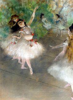 Degas ballet dancers.