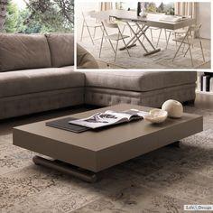 Notes: Tavolino Moderno Trasformabile Altezza Lunghezza | LD Arredamento