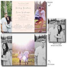 Gate folded wedding invitations