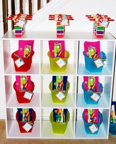 kid art party favors #birthdayparty #birthday #partyfavors