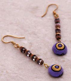 Romantic Handmade Banjara Tribal Ethnic 22k Gold Polished Brass Boho Hoop Gypsy Earrings Fashion Jewelry