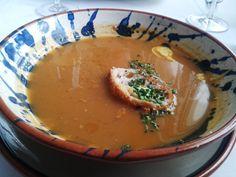 Sopa de pescadores con galeras y gamba blanca al perfume de azafr%c3%a1n