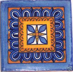 90 Mano messicano dipinto Talavera Tiles 4 X 4