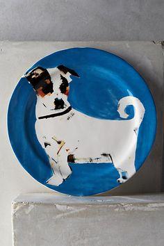 Dog-a-Day Dessert Plate - anthropologie.com