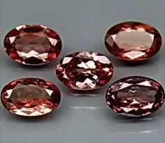 Rare Color Change Garnets Faceted Ovals 6 x 4 MM 5 by SilverFound, $9.75