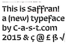 Saffran typeface from #Italy : http://www.c-a-s-t.com/saffran/index.html. @thelettergram , , #FontoftheYear.  via @_superness