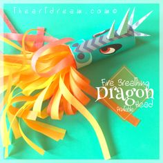 Dragon Craft Printable. Fire breathing dragons are the subject of many popular themes these days and here's a craft to satisfy any mythical creature fan. This dragon has horns and scales. Add your own tissue paper or ribbon streamers to this fiery craft.