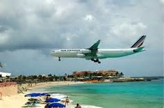 Maho Beach, St. Maarten. I've seen Flown in here couple of times... Probably my favorite Caribbean Island..The French Side...