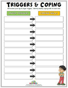 Anger Worksheets for Kids and Teens Kids Coping Skills, Coping Skills Activities, Social Emotional Activities, Social Skills For Kids, Teaching Social Skills, Counseling Activities, Group Therapy Activities, Social Work Activities, Counseling Psychology