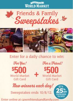 Sardinia diy sweepstakes