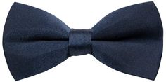 Men's Solid Color Bow Ties Navy Blue