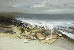 Chris Bushe The Surge of the Sea Abstract Landscape Painting, Seascape Paintings, Abstract Canvas, Landscape Art, Landscape Paintings, Paintings I Love, Painting Inspiration, Art Pictures, Cool Art