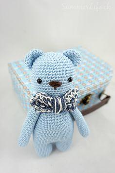 Häkelbär Amigurumi Toys, Hello Kitty, Dinosaur Stuffed Animal, Teddy Bear, Knitting, Crochet, Handmade, Diy, Animals