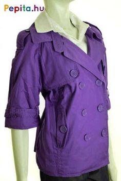Sötétlila színű rövid ujjú kabát az s. Oliver QS vonalától. Méret:XL Szín:sötétlila Blazer Jacket, Raincoat, Jackets, Blazers, Fashion, Rain Jacket, Down Jackets, Moda, Fashion Styles