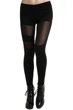 Dual-tone Hollow Black Leggings. Description Black leggings, featuring high waist with elastic design, dual-tone, hollow styling, solid color, a regular length. Fabric Polyester. Washing Cool hand wash. #Romwe