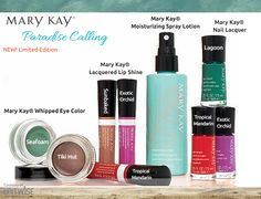 We're so excited for Mary Kay's new Paradise Calling Collection! Here's their new products, we will be posting more images tomorrow morning. Which product are you most excited about?